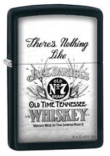 Zippo Jack Daniels There's Nothing Like Black Matte Windproof Lighter 29293 NEW