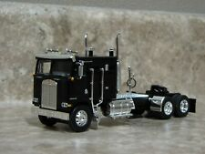 DCP 1/64 Black Kenworth K-100 Cabover Semi Truck Farm Toy