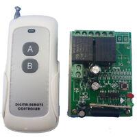 DC24V 2 Channels Wireless RF Remote Control Switch Relay Alarm FOB Key Remote