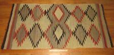 """Vintage Early American Indian Navajo Large Ganado Eye Dazzler Rug Blanket 76""""x38"""