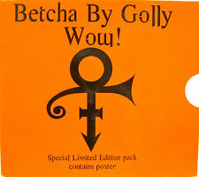 """PRINCE """"BETCHA BY GOLLY WOW!""""  cd's 2 tracks w/poster special edition mint"""