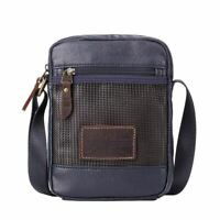 TRP0458 Troop London Heritage Canvas Across Body Bag, Small Secure Travel Bag