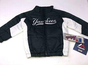 Majestic New York Yankees Navy Puffer Jacket Boys 4 Small