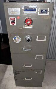 Safe Mosler GSA 4 Drawer File Cabinet Combination Lock