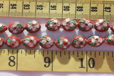 12x10mm Red Cloisonne Enamel Beads Spacer Crafts Jewelry Making 33pc RS53