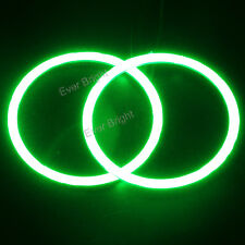 1Pair Green 110MM COB LED Angel Eyes Headlight Halo Ring Warning Lights 12V DC