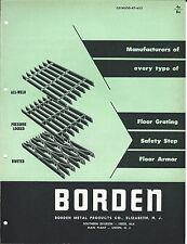 MRO Brochure - Borden - Floor Grating Armor Safety Step Treads c1952 (MR84)