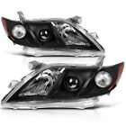 for 2007 2008 2009 Toyota Camry Black Projector Headlights Headlamp Assembly L+R