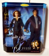 "Barbie & Ken X-Files Box Set 1998 Collector Edition Mattel 12"" Scully Mulder"