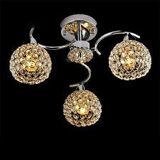 Elegant Crystal 3Light Flush Mount Chandelier Ball Lighting Ceiling Fixture Lamp