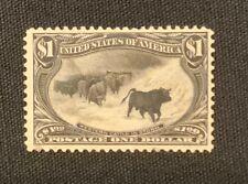 New ListingU.S. #292 Uncanceled-1898 $1.00 Trans-Mississippi Us Postage Cattle in Snowstorm