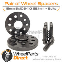 Wheel Spacers (2) & Bolts 15mm for Alfa Romeo Giulia 16-20 On Aftermarket Wheels