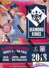 2018 Panini Diamond Kings Baseball EXCLUSIVE Factory Sealed Blaster Box !