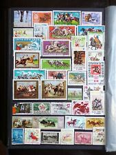 COLLECTION OF THEMED STAMPS: HORSES