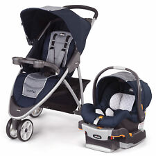 Chicco Viaro 3 Wheel Travel System Stroller w/ KeyFit 30 Car Seat Oxford NEW
