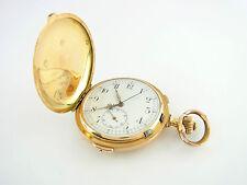 Taschenuhr Savonette 1/4 Stunden Repetition 585er Gelbgold vintage pocket watch