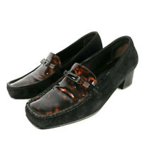 Russell & Bromley Stuart Weitzman UK 5 Black Suede Tortoiseshell Patent Shoes