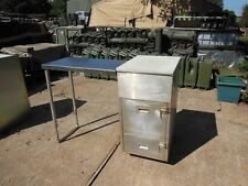 MILITARY SURPLUS US ARMY FIELD KITCHEN CABINET  WITH SINK AND FOLDING TABLE TOP