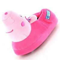 Peppa Pig Girls Slippers, Peppa Pig 3D Childrens Slippers Pink - Size 5-10