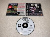 MLB 99 (Sony PlayStation 1, 1998) PS1 Black Label Complete Excellent!