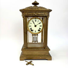 ANSONIA Mercury Crystal Regulator Brass & Glass Clock PROFESSIONALLY SERVICED
