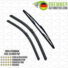 Ford Focus Saloon MK 2 (2004 to 2012) Wiper Blade Complete Set X3 Front Rear