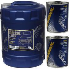 10L MANNOL Motoröl SAE 10W-40 DIESEL EXTRA Motorspülung Motor Flush
