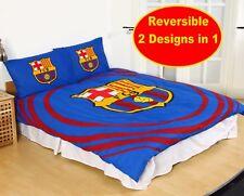 Neuf Officiel Barcelone F.C Football Club Double Housse Couette Set Enfant Fans