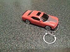 Diecast Dodge Challenger Orange Toy Car Keyring Keychain