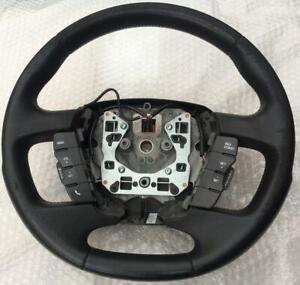 Ford Falcon FG G6 G6E Turbo black leather steering wheel XT XR6 XR8