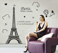 New DIY Paris Eiffel Tower Vinyl Art Decal Mural Home Room Wall Sticker Decor