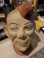 Vintage World War II G.I. Soldier Buddy Boy Ceramic Chia Pet Vase Planter Head