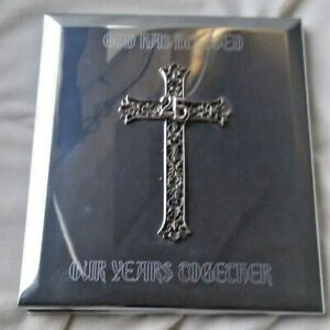 25th Anniversary Photo Album with Engraving Plate