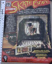 "Vintage Skate Escape Skateboard Poster Vision Street Wear Hark Caballero 25x19"""