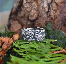 Viking Norse Slavic 2 Way Dragon Ring Size R-T