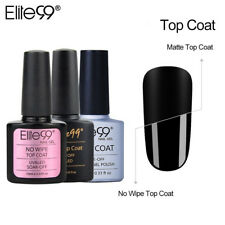 Elite99 10ml Base Coat Top Coat No Wipe Matte Top Shiny UV LED Gel 3Pcs Set Kit