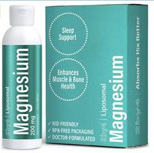 Liquid Magnesium Bis-Glycinate Supplement Lipsomal - Sunflower Lecithin