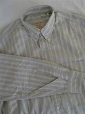 HUGO BOSS Largo -sleeve Camisa de rayas talla L 243 CON