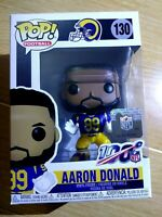 Funko Pop! Football Los Angeles Rams - Aaron Donald #130 Brand New!