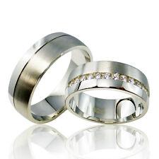 2 Trauringe 925 Silber GRAVUR + Etui Eheringe Verlobungsringe Partnerringe 3306