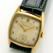 Vintage 17-Jewel Yellow Gold Filled Swiss Ribaux Wrist Watch CA1950s