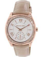 Michael Kors Women's Bryn MK2388 Rose-Gold Leather Japanese Quartz Fashion Watch
