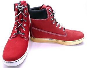 Timberland Shoes 6 Inch Premium Red/Black Boots Size 9.5