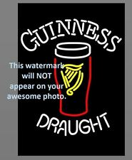 Guiness Beer Ad PHOTO Bar Pub Vintage Glass Sign Advertisement Art Print