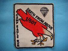 VIETNAM WAR PATCH, US CAMP EAGLE RVN DEATH FROM ABOVE 1st BNn 501st INFANTRY