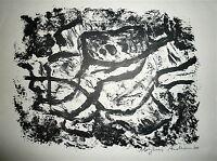 Andersen Mogens Helge Lithographie originale signée 1960 Jacques Massol Paris
