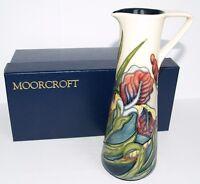 Moorcroft LARGE JUG IRIS Design Original Box MCC 1 Star Piece 1996 Rachel Bishop