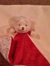 winnie the pooh baby comforter red cream marks spencer heritage range blankie