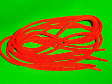 SHOELACES 125CM OVAL PRETTY FLURO ORANGE LACES SHOE LACES * IN AUST* TIES,LACE