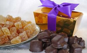 Hand-dipped Belgian Chocolate Crystallised Ginger 1/2lb, 226g Gift Box